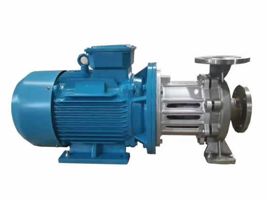 Magnetic drive hot oil pumps